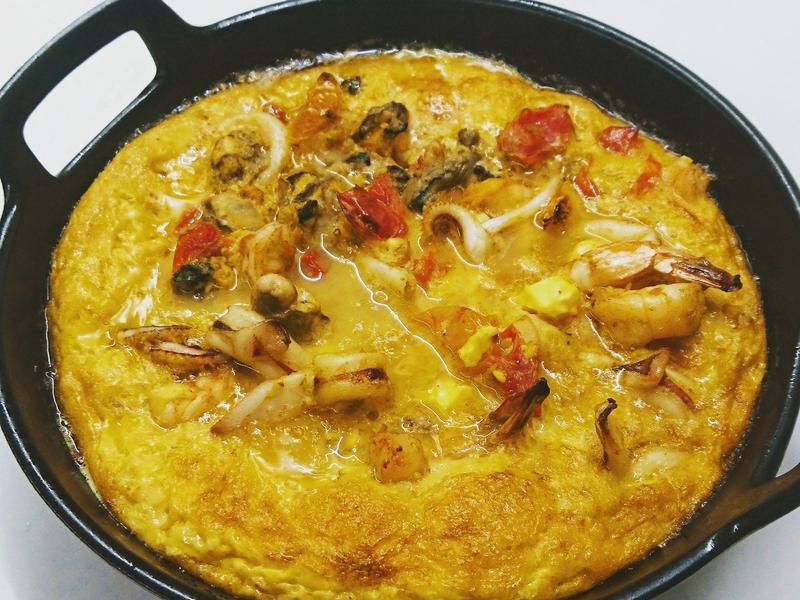 西班牙海鮮烘蛋