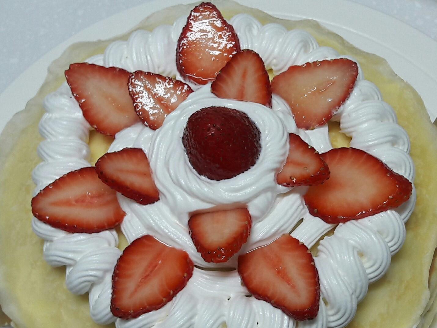 自製草莓七吋千層蛋糕  美味變異點心
