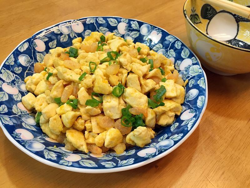 金沙蝦仁豆腐粒