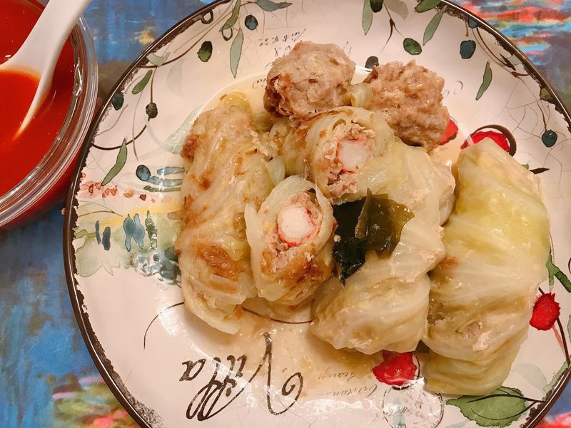 蟳味高麗菜捲- 大同電鍋