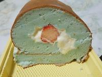 蝶豆花柳橙天使蛋糕捲