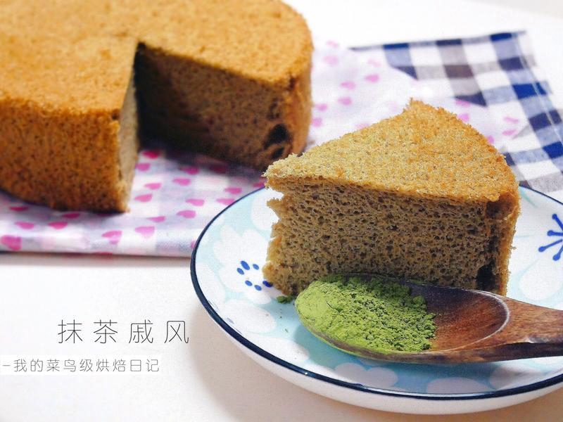 抹茶戚風蛋糕 · 不沾模具版 🍃