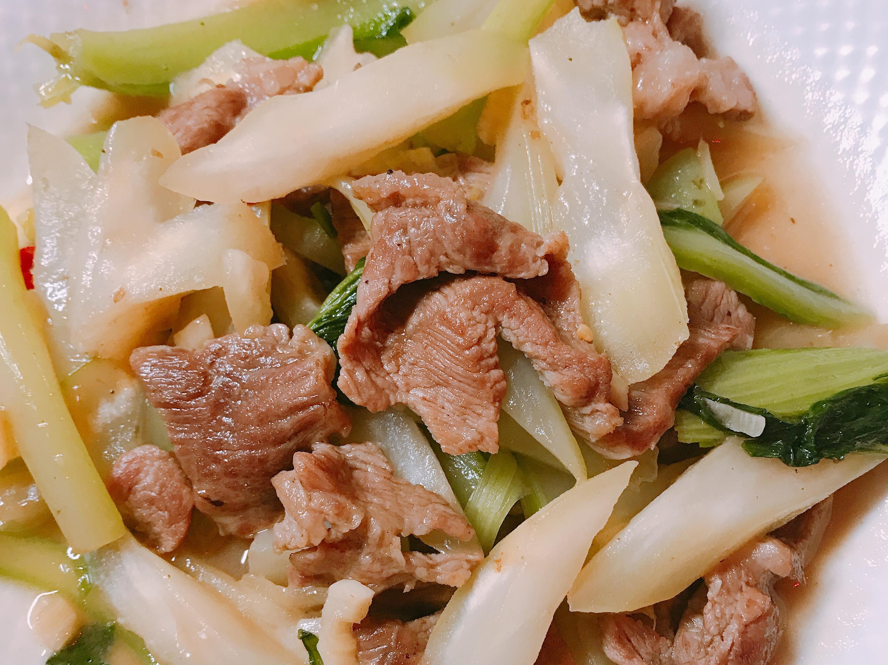 豬肉炒菜心
