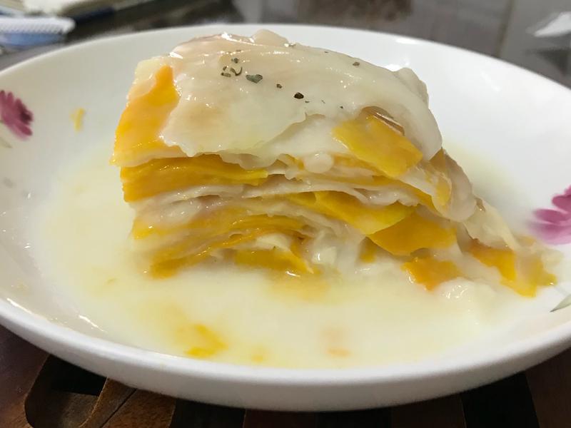 千層奶香南瓜高麗菜