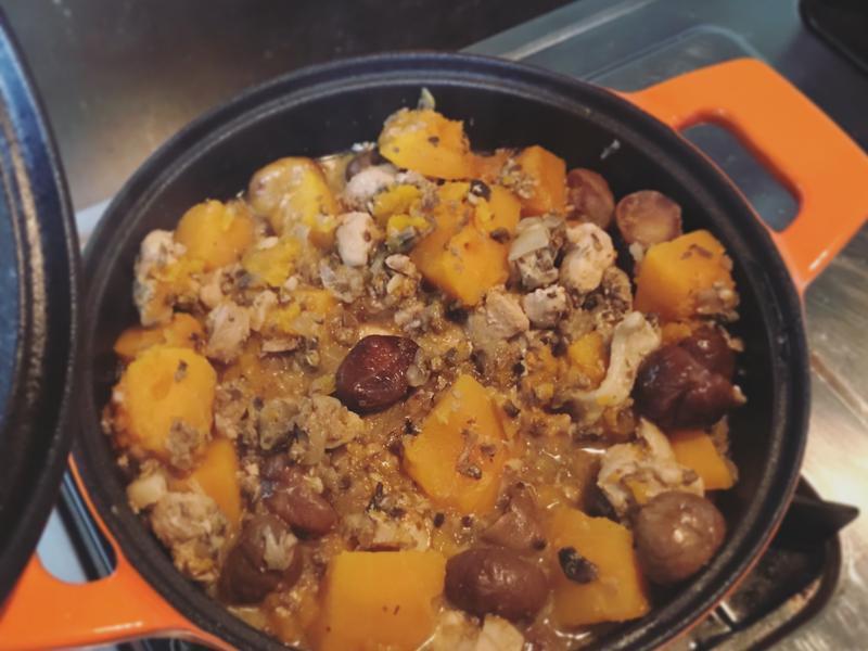 《寶寶副食品》南瓜栗子燉雞腿肉