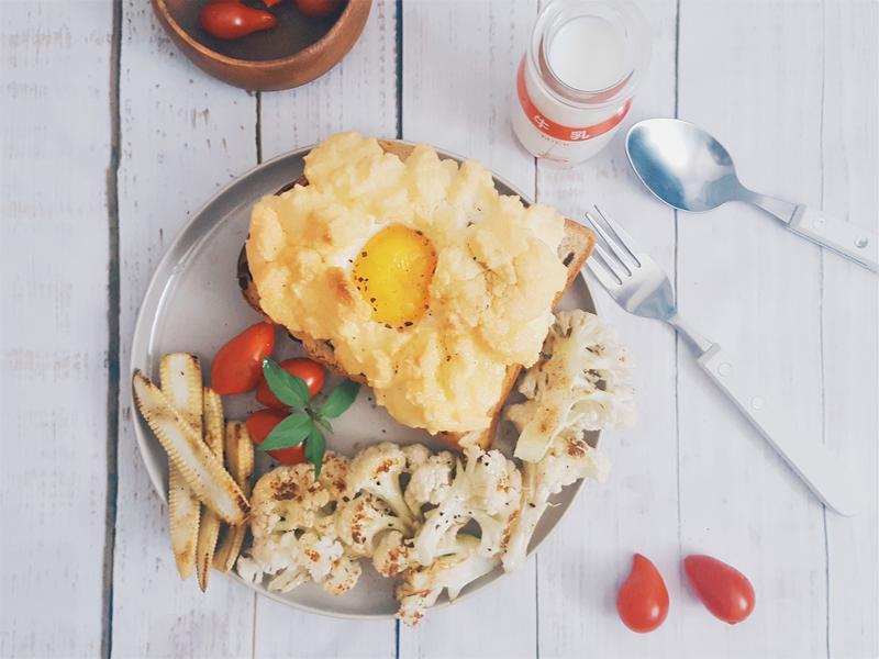 在家吃buffet~雲朵蛋