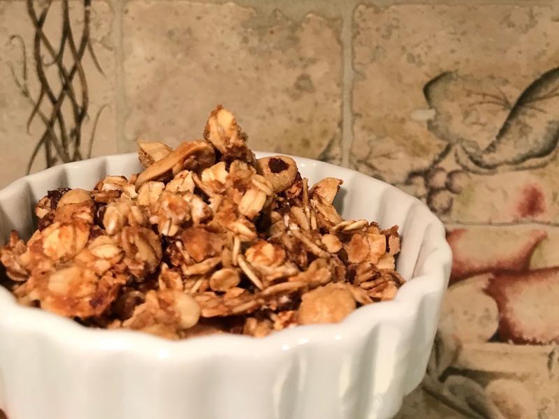 低糖無油/氣炸鍋食譜—花生巧克力烤麥片