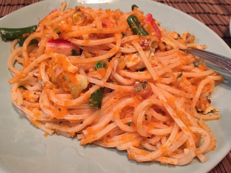 白醬蝦卵義大利麵
