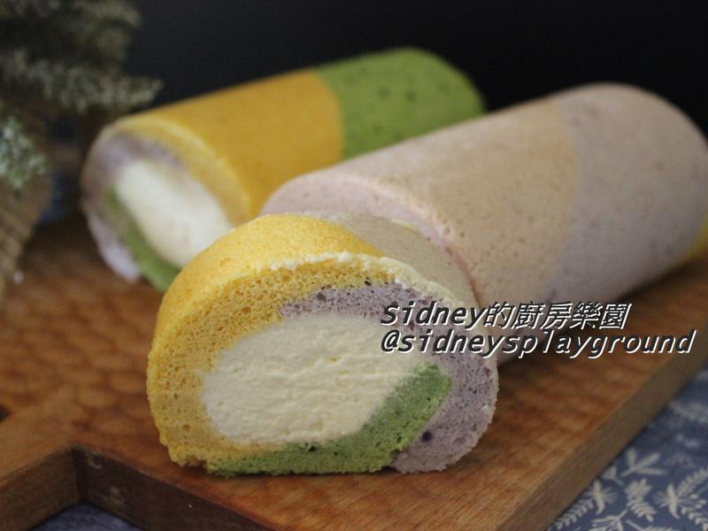 彩色蛋糕捲-天然色粉版