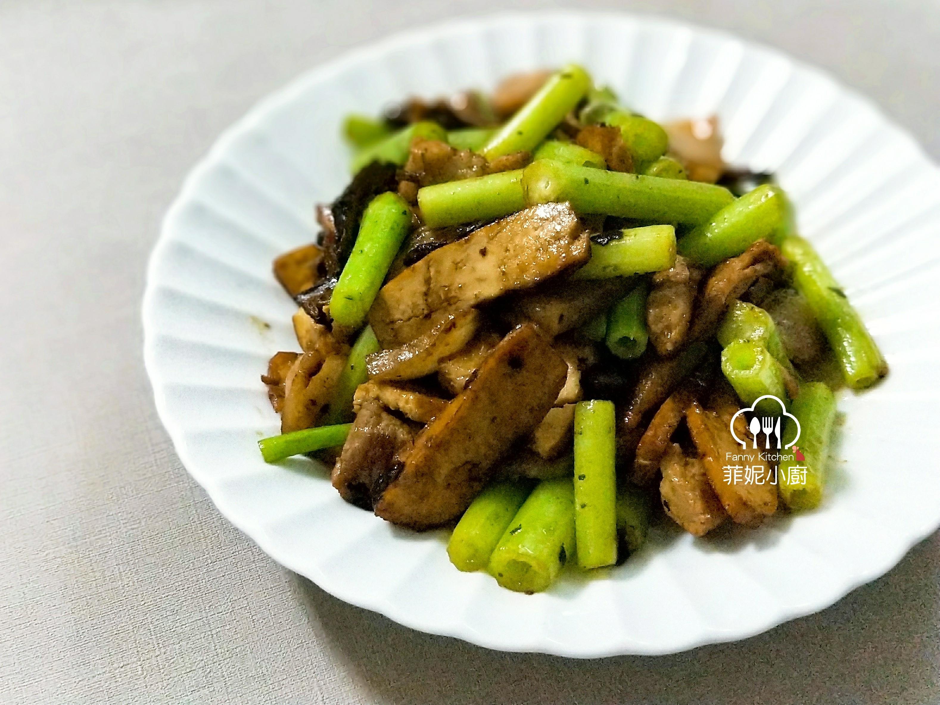 豆豉芹菜炒豆乾