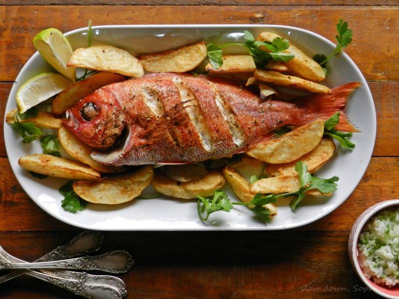 爐烤香料紅魚