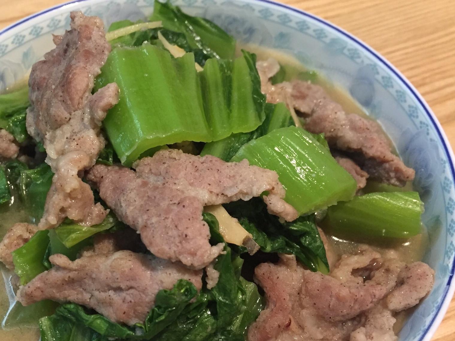麻油刈菜肉片