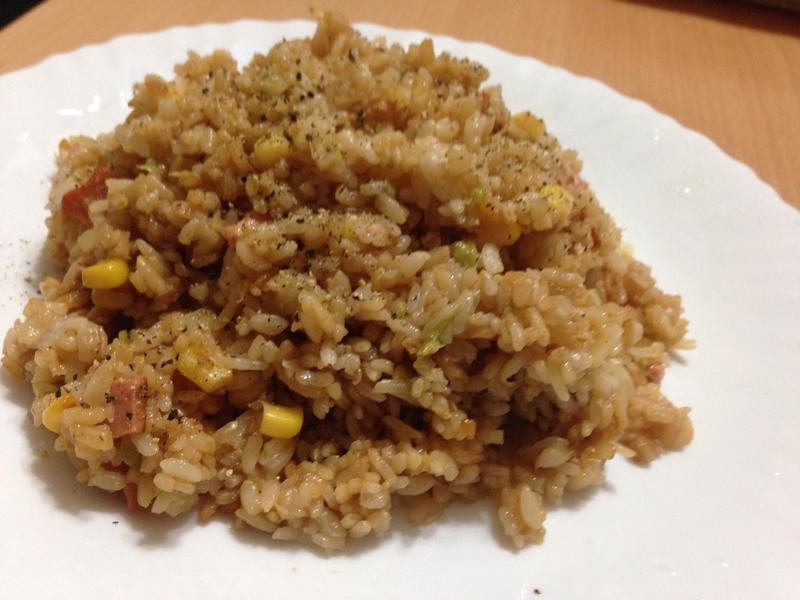 古早味培根玉米炒飯(全素)