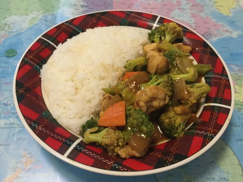 綠花椰菜咖哩雞