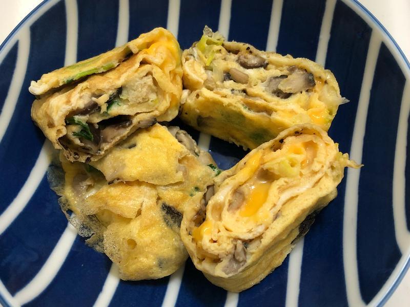 菇菇起司蔥蛋捲