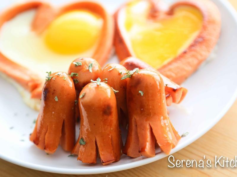 熱狗章魚&愛心熱狗蛋