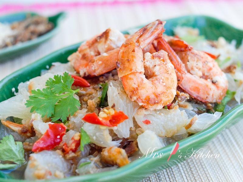 泰式鮮蝦柚子沙拉