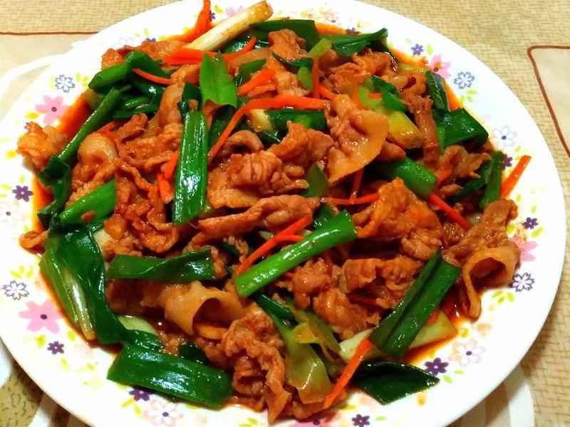 韓式辣醬蔥爆肉