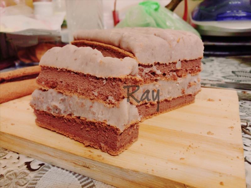 巧克力芋泥蛋糕