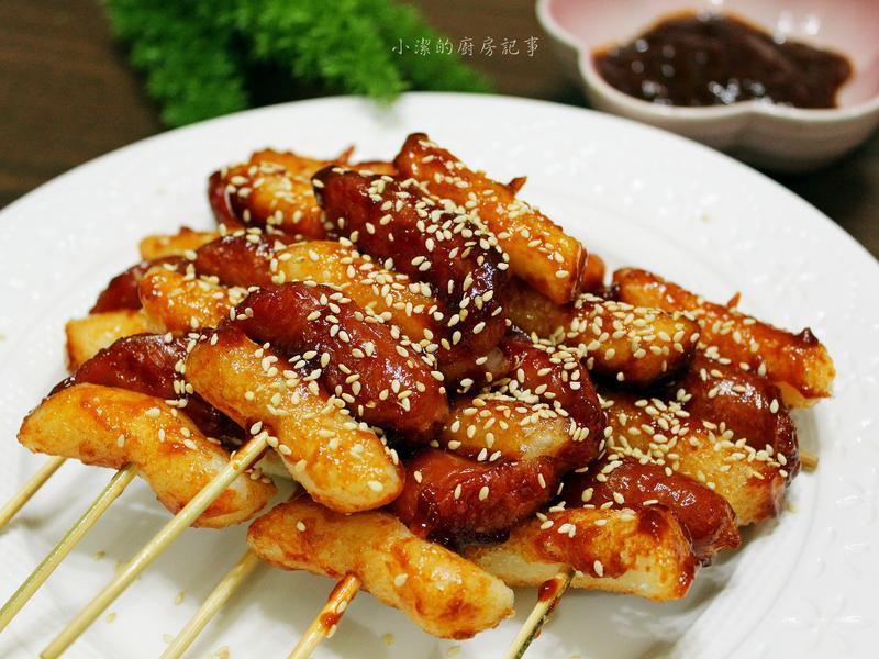 【韓國小吃】韓式年糕香腸串