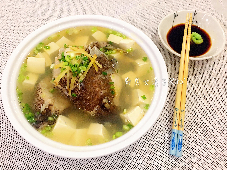 薑絲豆腐石斑魚湯