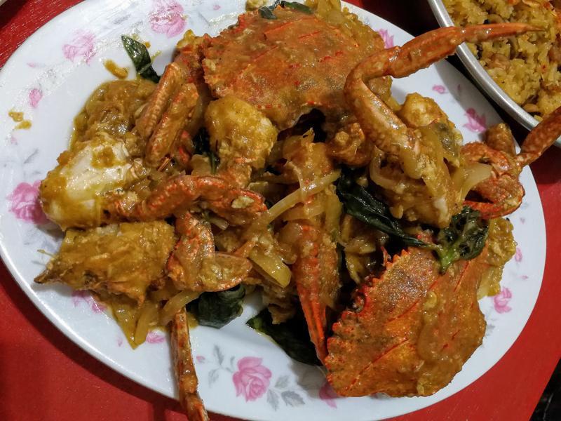 沙茶炒 九層塔石蟳螃蟹洋蔥蛋🦀