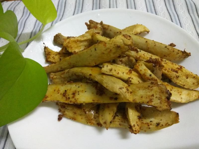 年菜拼盤好菜色─焗烤五香杏鮑菇