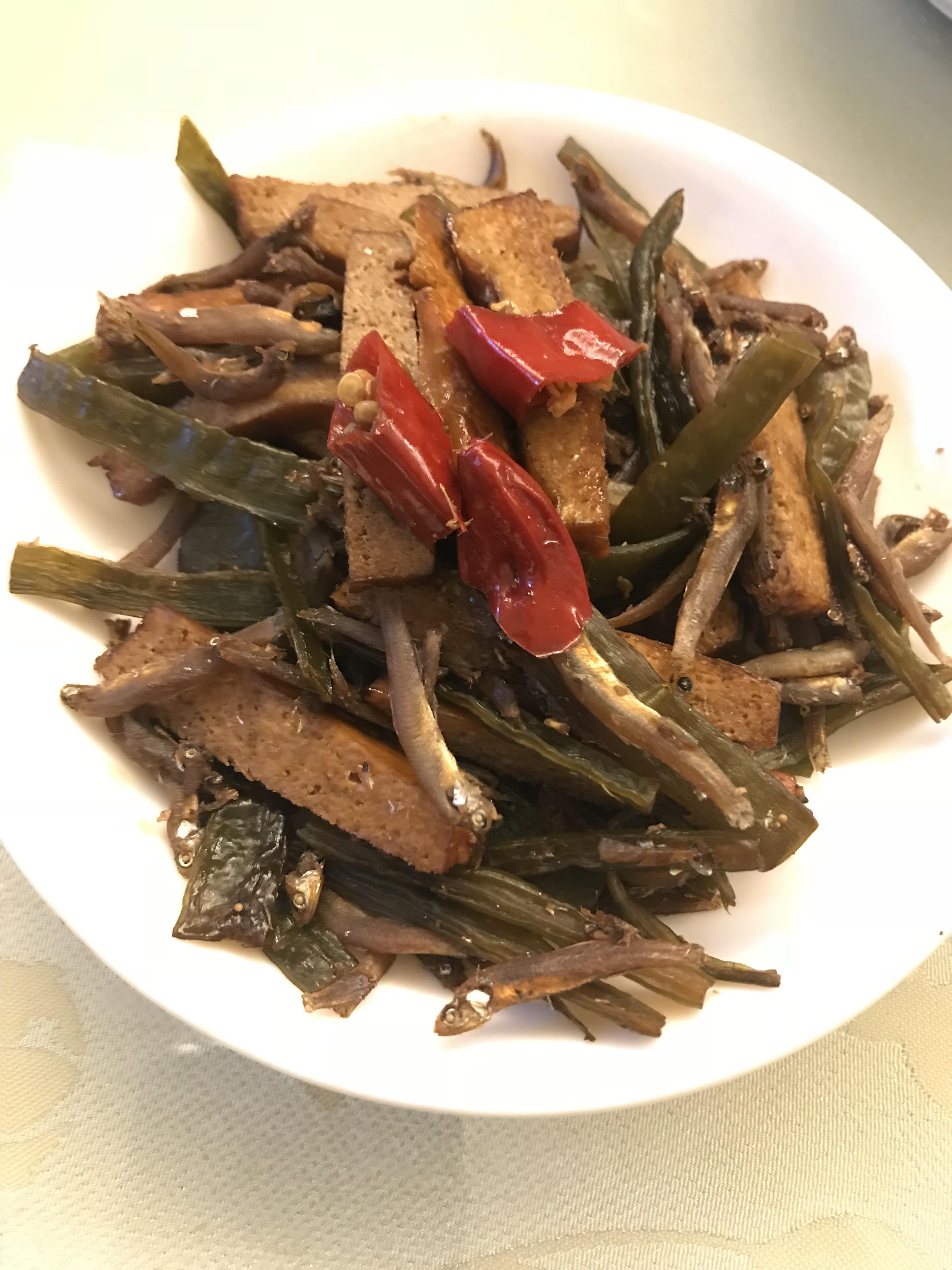 醬炒小魚海帶豆干