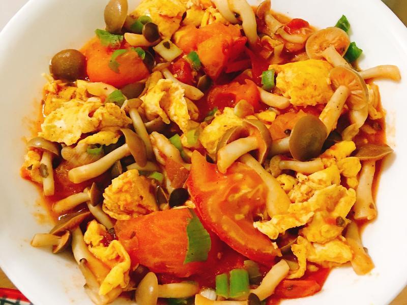 番茄菇菇炒蛋