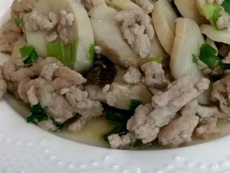 杏鮑菇炒碎肉