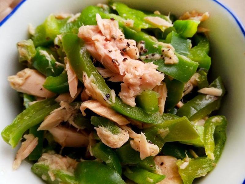 鮪魚青椒絲〞簡易低醣生酮常備菜
