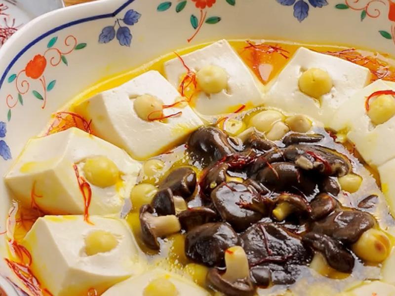 年菜系│蠔菇紅花蓮子豆腐│輕鬆上桌