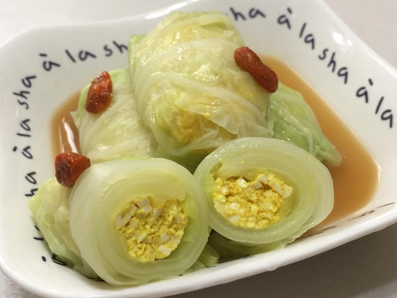 白菜薑黃豆腐捲【素食電鍋料理】
