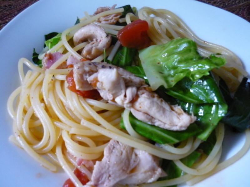 雞肉蔬菜義大利麵