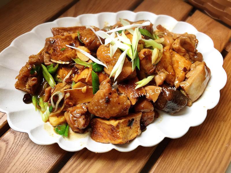 油豆腐豆鼓燒雞(便當菜)