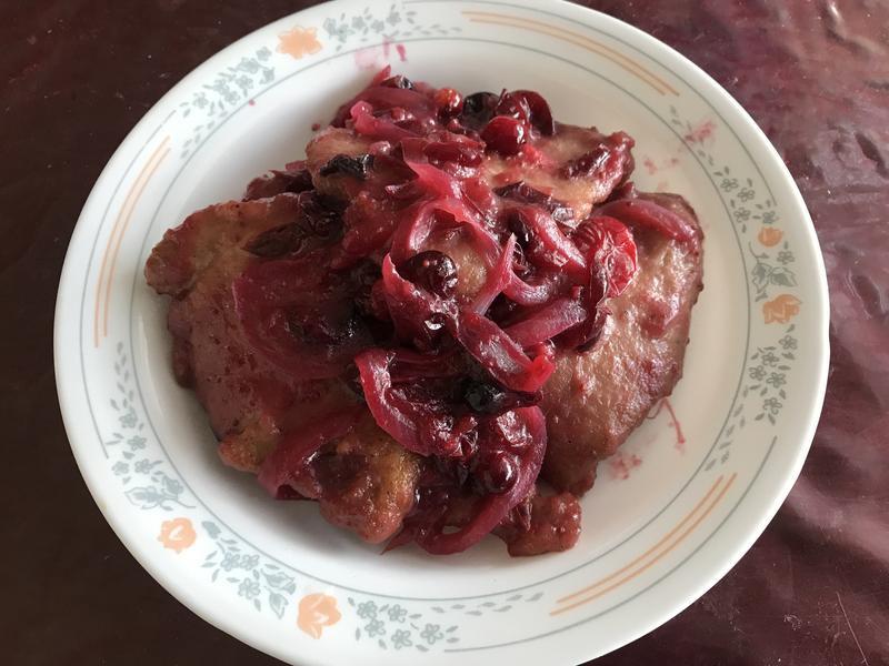 醬燒蔓越莓豬排