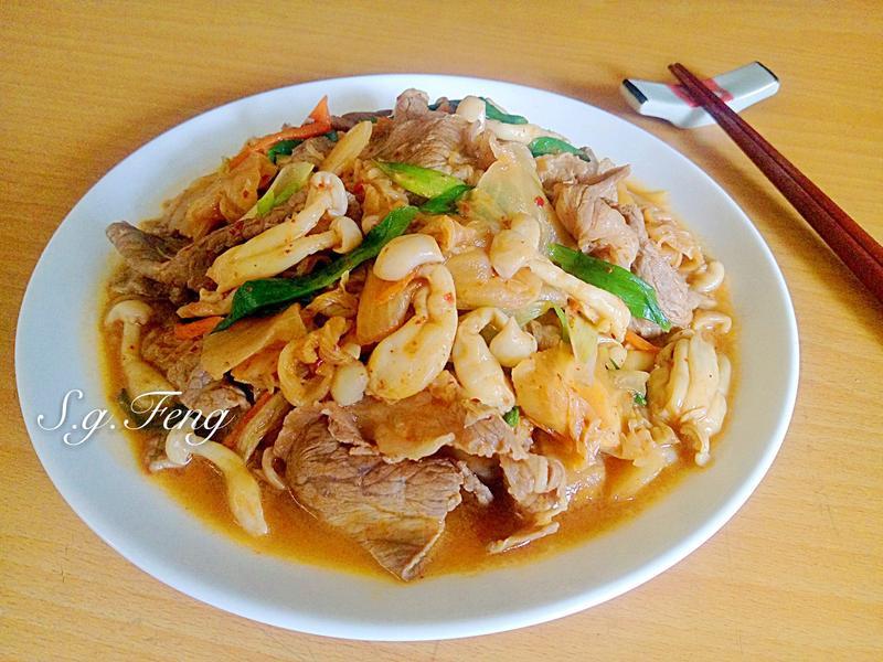 韓式泡菜菇菇牛肉