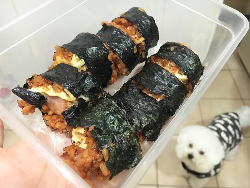 韓式辣雞飯捲