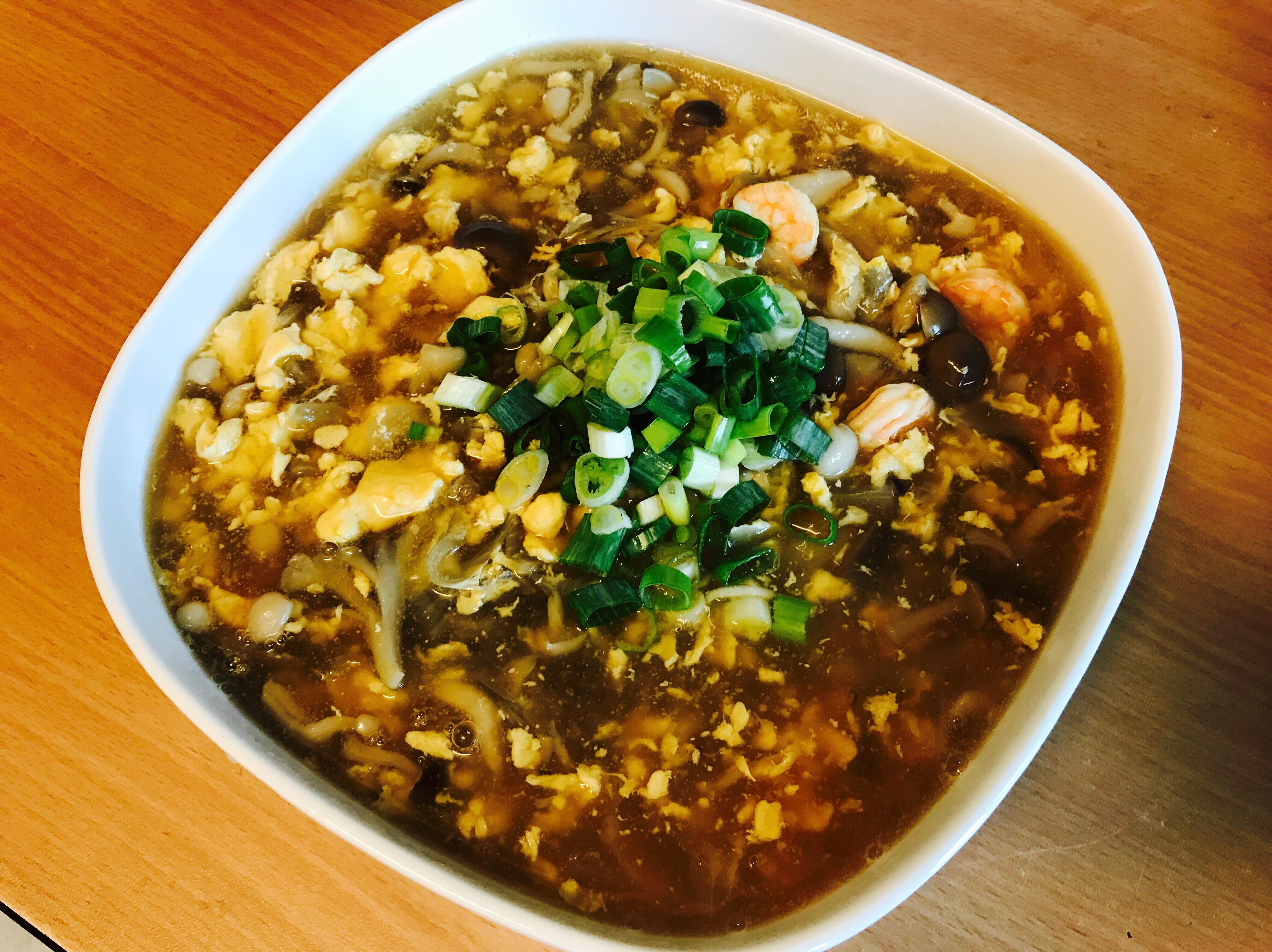 下飯懶人料理:菇菇蛋花蝦仁羹