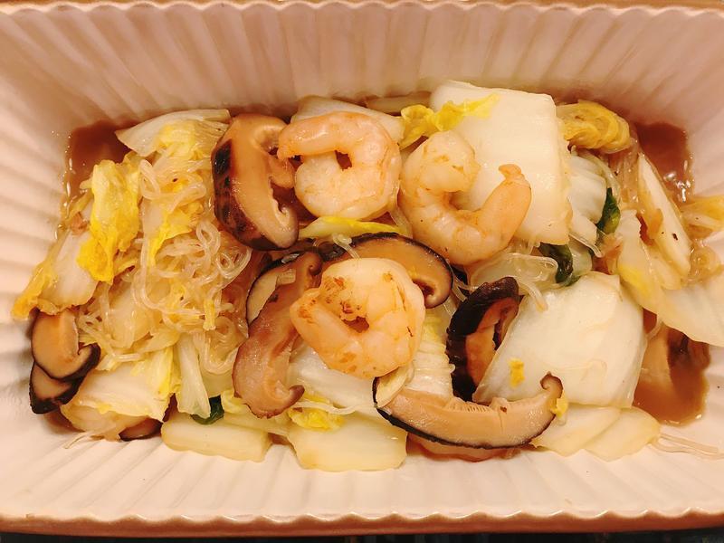 開運蝦仁燴白菜