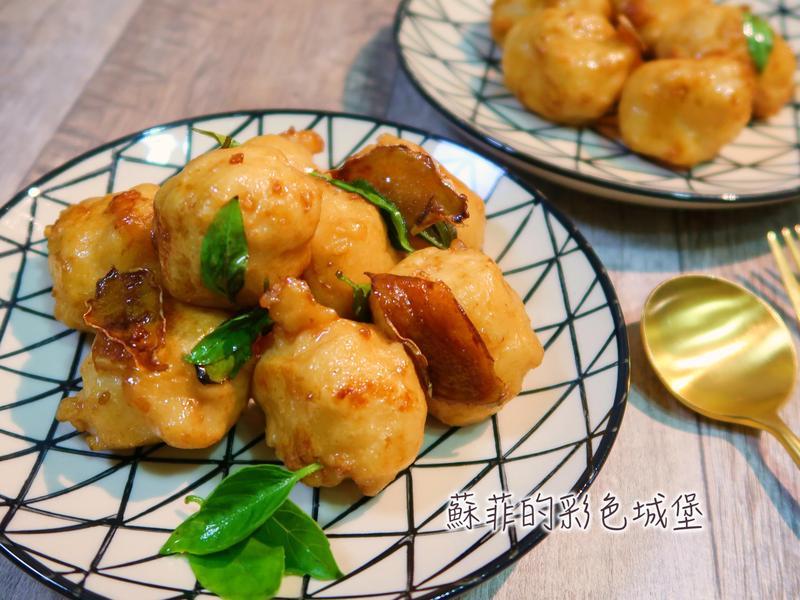 『三杯花枝丸』免油炸之美味花枝丸料理