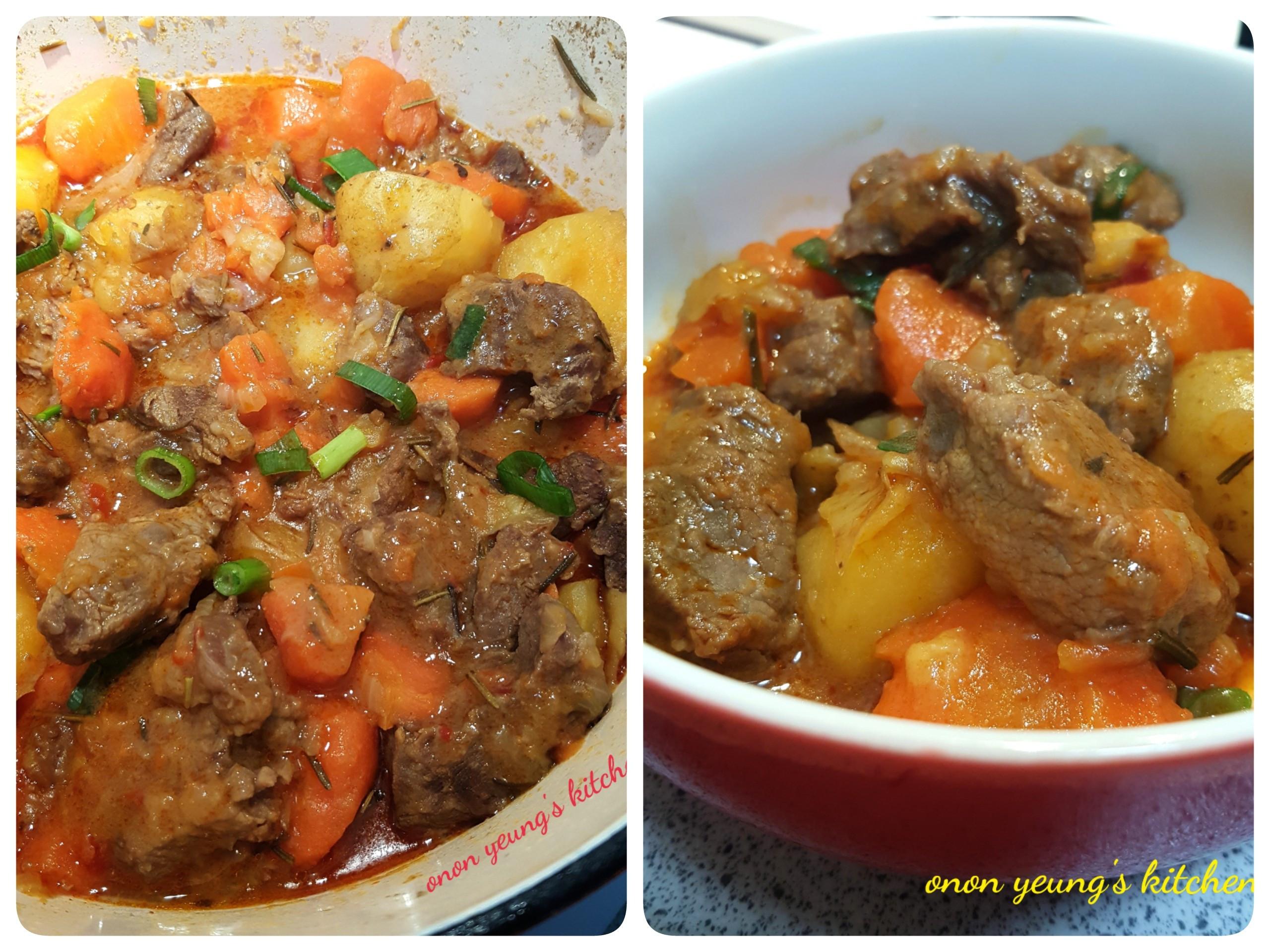 迷迭香燉辣牛肉鍋 簡易。家常菜。晚餐