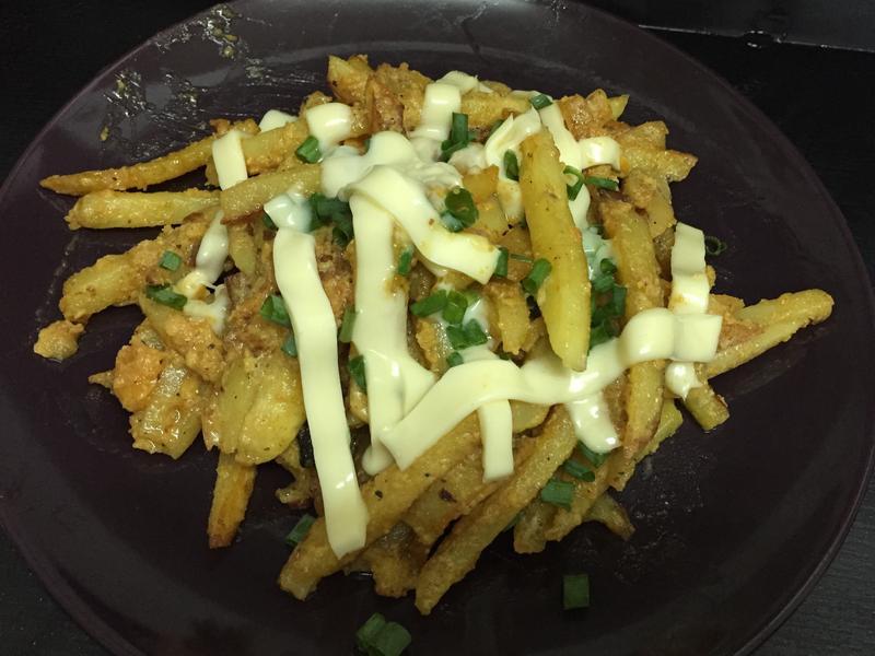 鹹蛋黃炒薯條