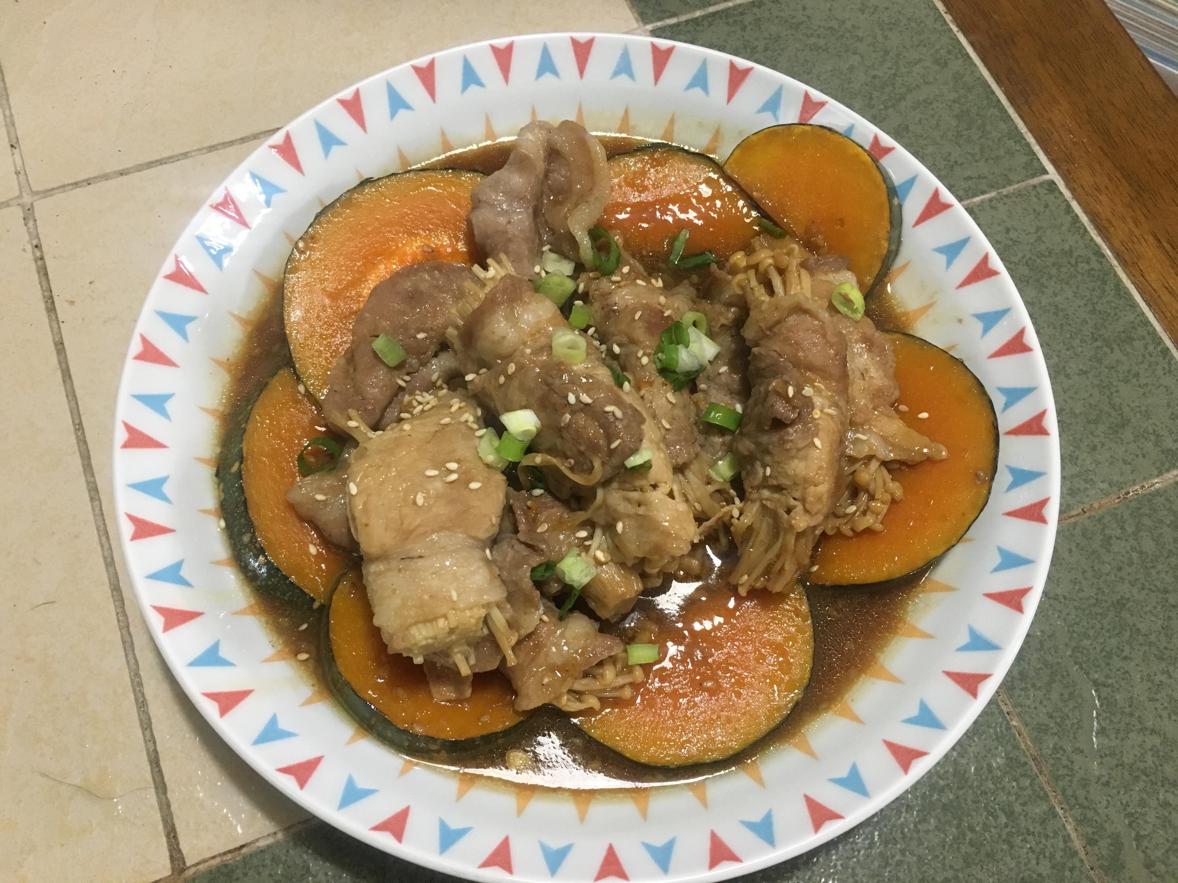 [便當菜]金針菇菇梅花肉