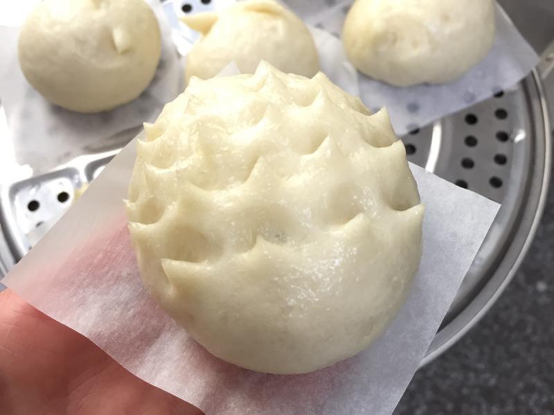 中種饅頭-刺蝟小兔兔芝麻包【電鍋料理】