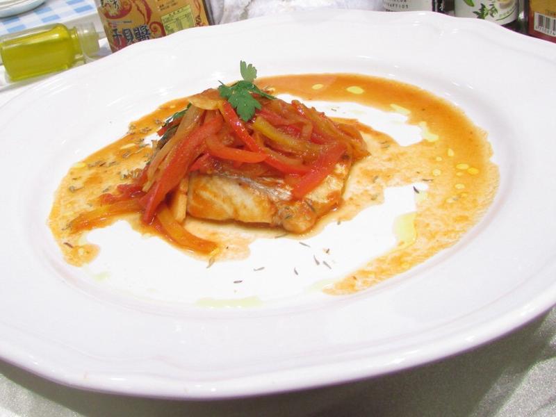 蕃茄奶油鱸魚一夜干