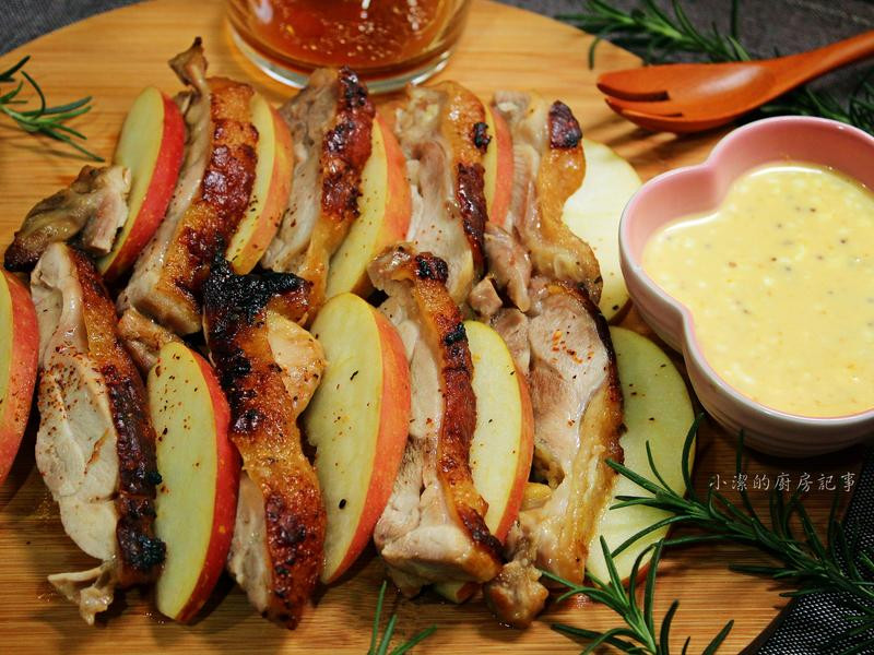 香烤雞腿排佐蜂蜜芥末醬