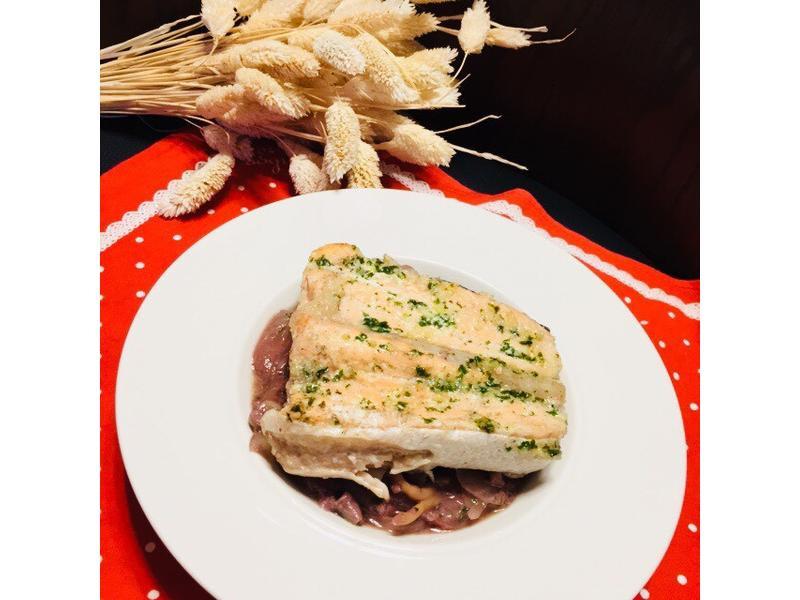 冰火香鮭~紅酒冰淇淋佐香烤鮭魚