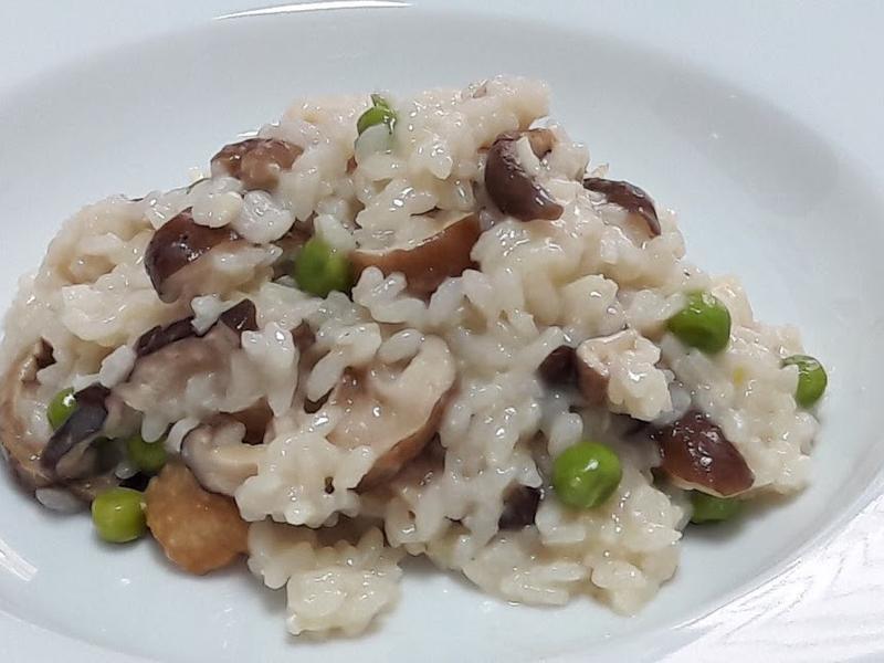 香菇青豆仁燉飯  義式燉飯