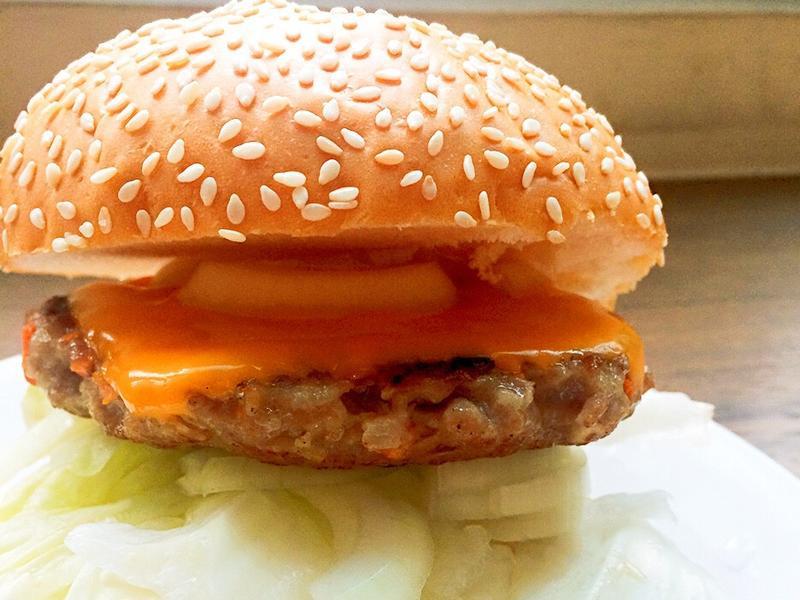 🇺🇸超easy手工肉排起司漢堡!